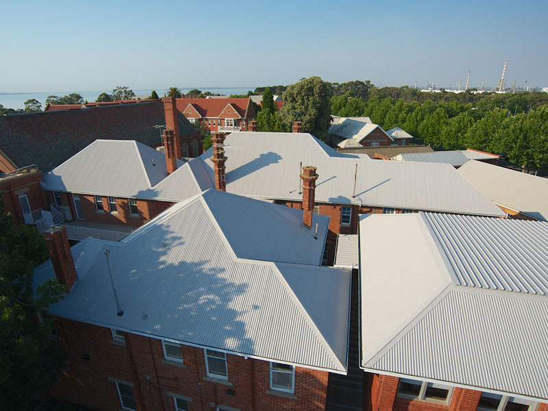 Asbestos Roof Replacement Geelong Grammar Acr Roofing