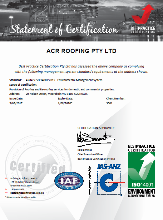 roofing contractors melbourne