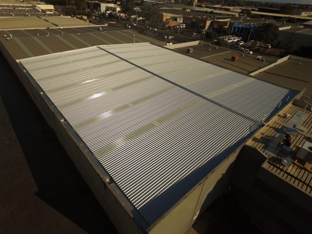 Commercial Metal Roof Replacement Clayton Acr Roofing