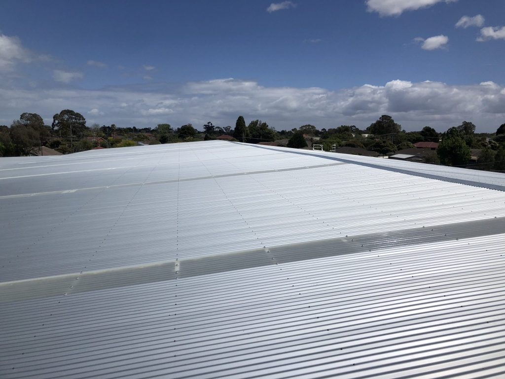 Commercial Metal Roof Replacement Keysborough Acr Roofing